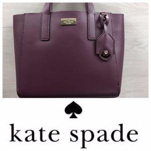 Kate Spade Mini Nelle Putnam Drive Deep Plum Tote